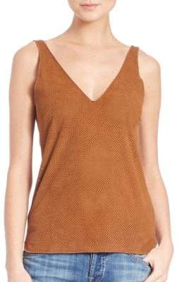 Perforated Suede-Front Tank