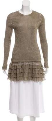 Valentino Metallic Tiered Sweater w/ Tags