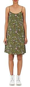 R 13 Women's Floral Silk Tank Dress-Green