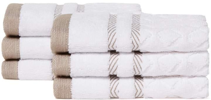 Chortex of England Westport Washcloth Set (Set of 6)
