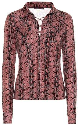 ALEXACHUNG Snake-printed blouse