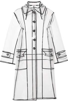 Miu Miu - Grosgrain-trimmed Pvc Trench Coat - White