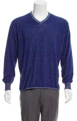 Loro Piana V-Neck Rib Trim Sweater