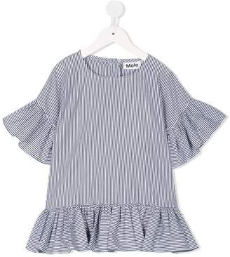 Molo striped ruffle sleeve blouse