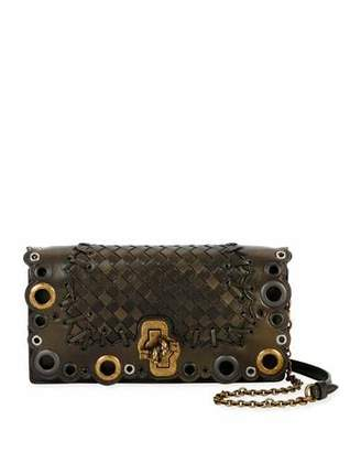 Bottega Veneta Medium Lace Intrecciato Clutch Bag