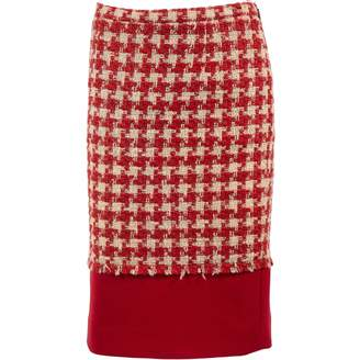 Moschino Cheap & Chic Moschino Cheap And Chic Red Wool Skirts
