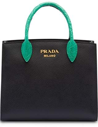 Prada Saffiano leather and crocodile bag b550a5303f