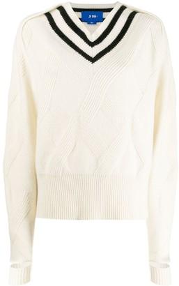Ji Oh stripe long-sleeve sweater