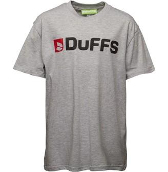 DuFFS Boys Horizontal Logo T-Shirt Grey Marl