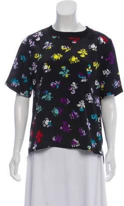 Diane von Furstenberg Silk Floral Print T-Shirt
