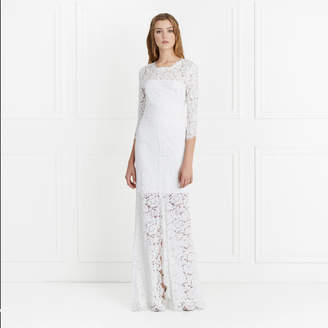 Rachel Zoe Carolyn Open Back Lace Gown