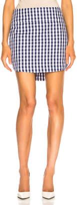 Monse Gingham Shirt Tail Skirt