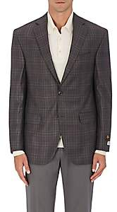 Piattelli MEN'S PLAID WORSTED WOOL TWO-BUTTON SPORTCOAT - BEIGE/TAN SIZE 40 R