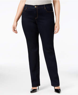 INC International Concepts I.N.C. Plus & Petite Plus Size Tummy Control Skinny Jeans, Created for Macy's
