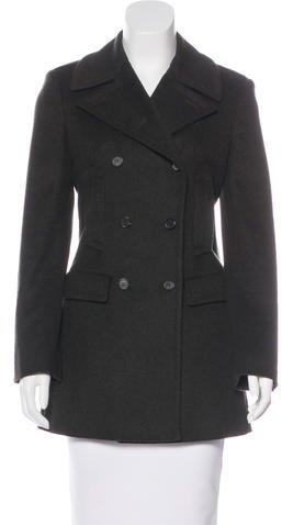 pradaPrada Double-Breasted Wool Coat
