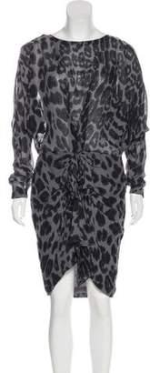 By Malene Birger Leopard Print Knee-Length Dress w/ Tags