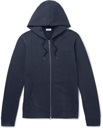 Sunspel Loopback Cotton-Jersey Zip-Up Hoodie