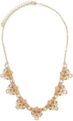 Forever 21 Teardrop Cluster Floral Statement Necklace
