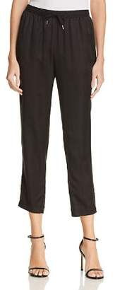 Alexander Wang Striped Silk Jacquard Jogger Pants