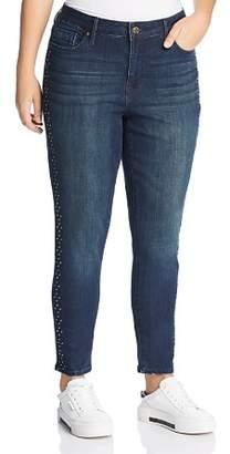 Seven7 Jeans Plus Stud-Trimmed Jeans in Horizon Wash