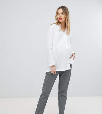 Isabella Oliver Stretch Straight Leg Pants In Stripe