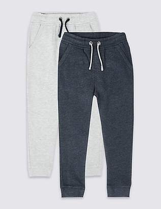 Marks and Spencer 2 Pack Cotton Rich Joggers (3 Months - 7 Years)