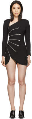 Alexander Wang Black Sunburst Zip Dress