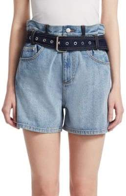 3.1 Phillip Lim Paper Bag Denim Shorts