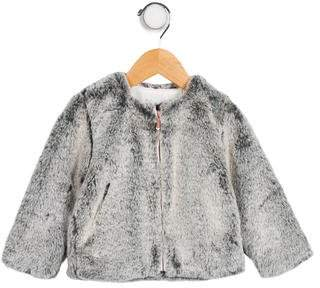 Jean Bourget Girls' Faux Fur Zip-Up Jacket w/ Tags