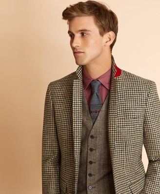 Brooks Brothers Houndstooth Wool Twill Sport Coat