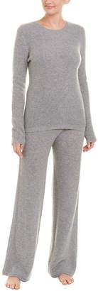 Sofia Cashmere Sofiacashmere 2Pc Thermal Lounge Cashmere Pajama Set