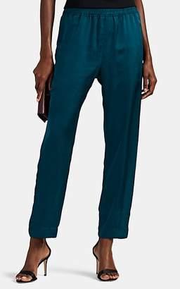 Juan Carlos Obando Women's Washed Satin Track Pants - Dk. Green