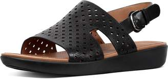 FitFlop H-Bar Latticed Leather Back-Strap Sandals
