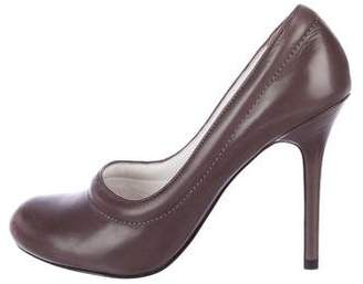 Camilla Skovgaard Leather Round-Toe Pumps w/Tags