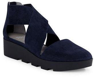 Eileen Fisher Buoy Suede Platform Wedge Sandals $195 thestylecure.com