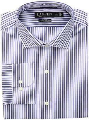 Lauren Ralph Lauren Slim Fit No-Iron Striped Cotton Dress Shirt Men's Long Sleeve Button Up