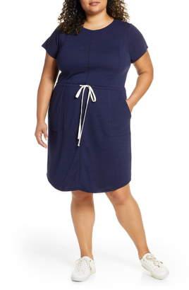 Caslon Cinched Waist T-Shirt Dress