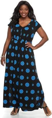Dana Buchman Plus Size Shirred Maxi Dress