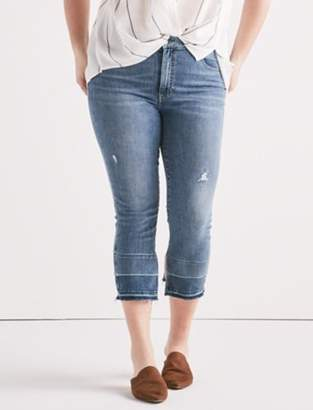 Lucky Brand Plus Emma Crop Jean with Fray Hem