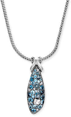John Hardy Classic Chain Swiss Blue Topaz Pendant Necklace