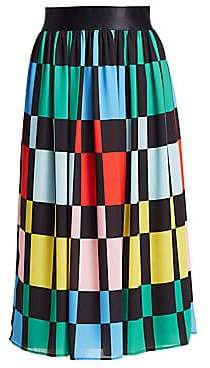 Alice + Olivia Women's Melda Gathered Midi Skirt - Size 0