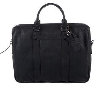 Longchamp Grained Leather Satchel