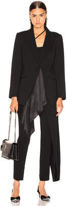 Michelle Mason Silk Drape Blazer