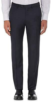 Brioni Men's Wool Flat-Front Trousers