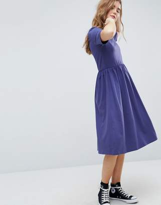 Asos Design Midi Ultimate Cotton Smock Dress