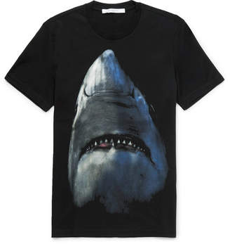 Givenchy Cuban-Fit Shark-Print Cotton-Jersey T-Shirt - Black