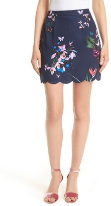 Women's Ted Baker London Staycee Tropical Oasis Miniskirt $225 thestylecure.com