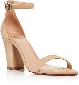 Schutz Women's Enida Suede Ankle Strap Block-Heel Sandals