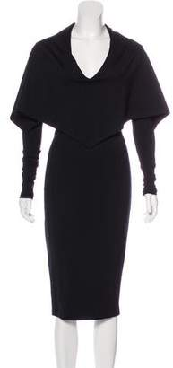 Kimberly Ovitz Long Sleeve Midi Dress
