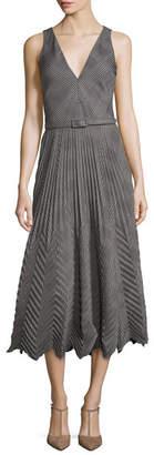 Ralph Lauren Louise Pleated Plaid Dress